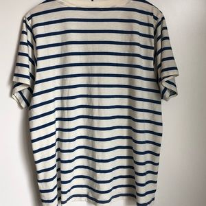 J. Crew Tops - J. Crew I Beg Your Pardon Lip Striped T-Shirt XXL